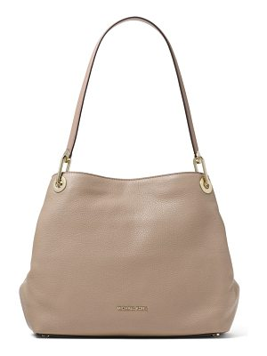 MICHAEL Michael Kors raven large pebbled leather shoulder bag