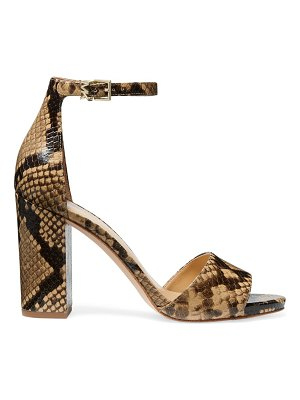 MICHAEL Michael Kors leela snakeskin-embossed leather sandals