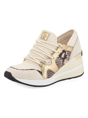 MICHAEL Michael Kors Liv Lace-Up Wedge Sneakers
