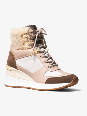 MICHAEL Michael Kors Liv Mixed-Media High-Top Trainer