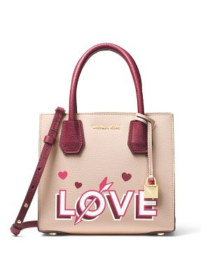MICHAEL Michael Kors love medium messenger leather tote