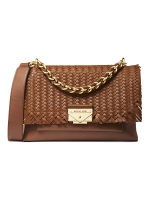 MICHAEL Michael Kors medium cece woven leather shoulder bag