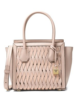 MICHAEL MICHAEL KORS Medium Leather Basket Weave Tote
