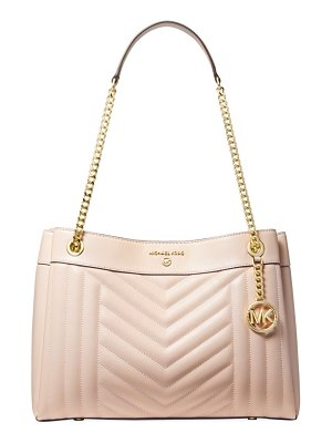 MICHAEL Michael Kors medium susan chevron leather shoulder bag