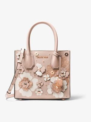 MICHAEL Michael Kors Mercer Floral Embellished Leather Crossbody