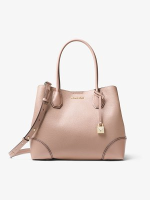 MICHAEL Michael Kors Mercer Gallery Medium Pebbled Leather Satchel