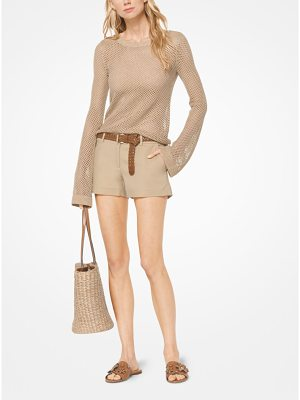 MICHAEL Michael Kors Metallic Open-Knit Pullover