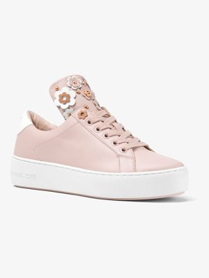 MICHAEL MICHAEL KORS Mindy Floral Applique Leather Sneaker
