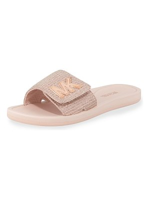 MICHAEL Michael Kors MK Glitter Chain Slide Sandals