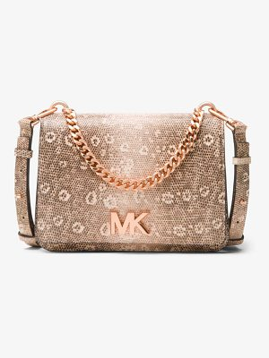 MICHAEL MICHAEL KORS Mott Lizard-Embossed Leather Crossbody