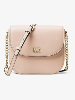 MICHAEL Michael Kors Mott Pebbled Leather Dome Crossbody