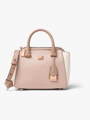 MICHAEL MICHAEL KORS Nolita Mini Color-Block Leather Satchel