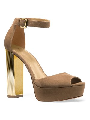 MICHAEL Michael Kors paloma suede platform dress sandals
