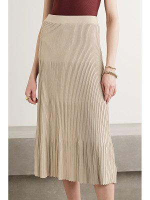 MICHAEL Michael Kors pleated stretch-knit midi skirt