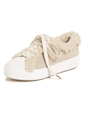 MICHAEL Michael Kors poppy lace up shearling sneakers