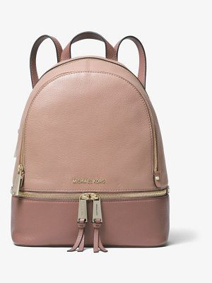 MICHAEL Michael Kors Rhea Medium Color-Block Pebbled Leather Backpack