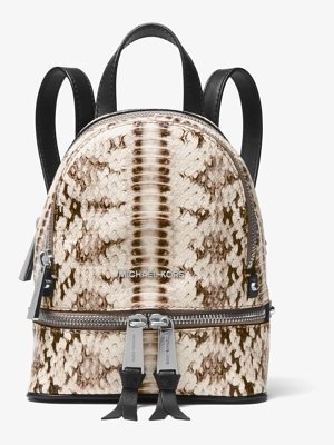 MICHAEL Michael Kors Rhea Mini Snake-Embossed Leather Backpack