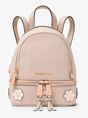 MICHAEL Michael Kors Rhea Mini Floral Applique Leather Backpack