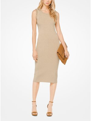 MICHAEL MICHAEL KORS Ruffled Metallic Stretch-Viscose Dress