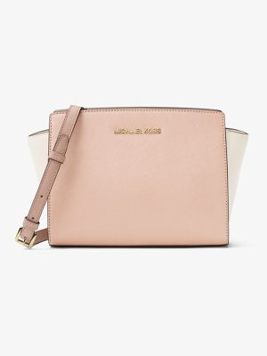 MICHAEL MICHAEL KORS Selma Medium Color-Block Leather Messenger