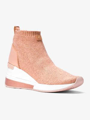 MICHAEL Michael Kors Skyler Metallic Knit High-Top Trainer