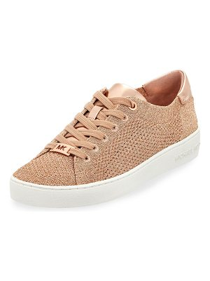 MICHAEL Michael Kors Skyler Metallic Lace-Up Low-Top Sneakers