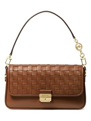 MICHAEL Michael Kors small bradshaw woven leather shoulder bag