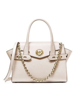 MICHAEL Michael Kors small carmen belted leather satchel