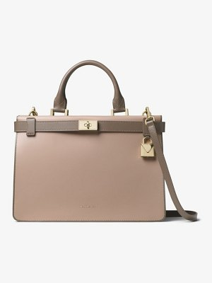MICHAEL Michael Kors Tatiana Medium Two-Tone Leather Satchel