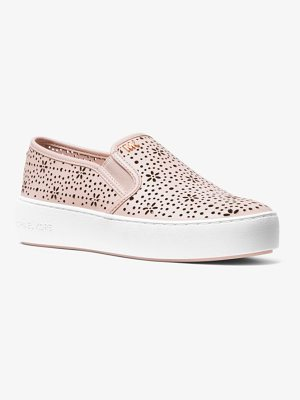 MICHAEL MICHAEL KORS Trent Perforated Leather Slip-On Sneaker
