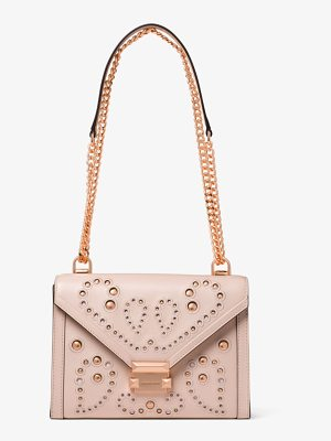 MICHAEL Michael Kors Whitney Large Embellished Leather Shoulder Bag