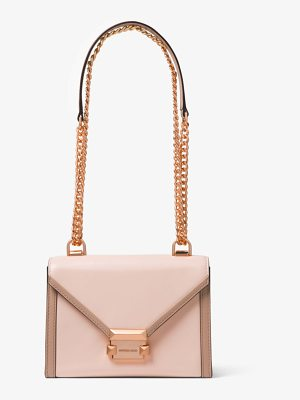 MICHAEL Michael Kors Whitney Small Two-Tone Leather Convertible Shoulder Bag