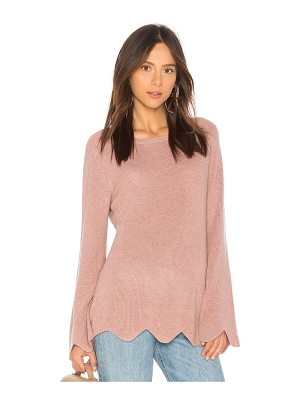 Michael Stars Cashmere Scalloped Sweater