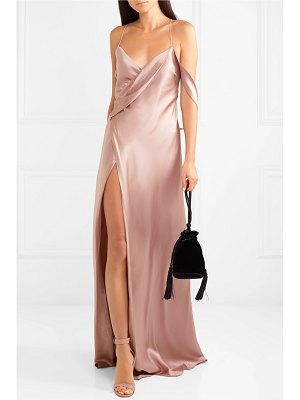 Michelle Mason draped silk-charmeuse gown