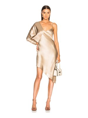 MICHELLE MASON For Fwrd Asymmetrical One Shoulder Dress