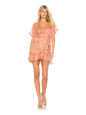 MICHELLE MASON Kimono Wrap Mini Dress