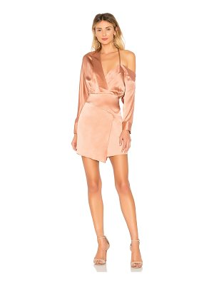 Michelle Mason off shoulder mini dress