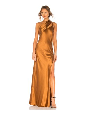 Michelle Mason One Shoulder Gown