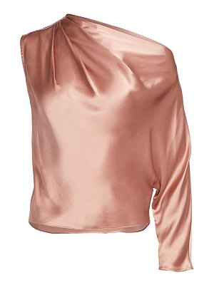 Michelle Mason one-sleeve silk drape top