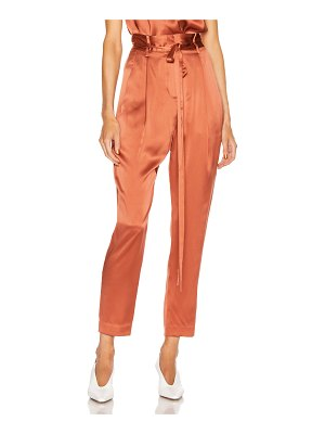 Michelle Mason paperbag cropped trouser