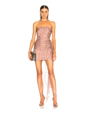 Michelle Mason x FWRD Ruched Strapless Dress