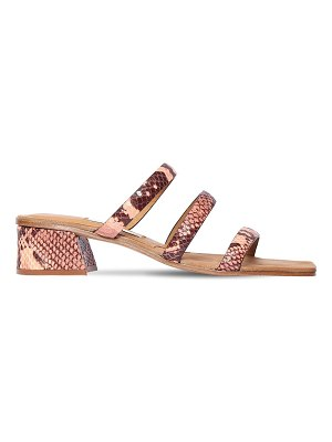 Miista 40mm lynley snake print leather sandals