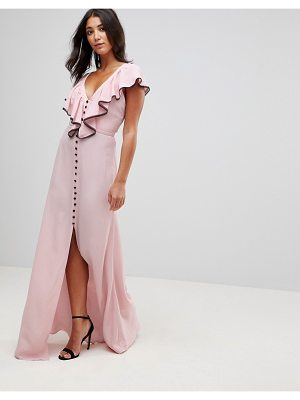 Millie Mackintosh Dorchester Ruffle Front Maxi Dress