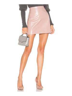 Milly Crinkle Leather Modern Mini Skirt
