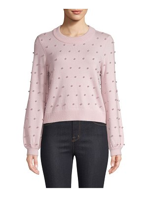 Milly faux-pearl wool sweater