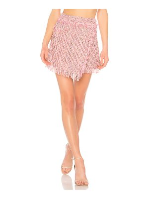 Milly Fringe Mini Wrap Skirt