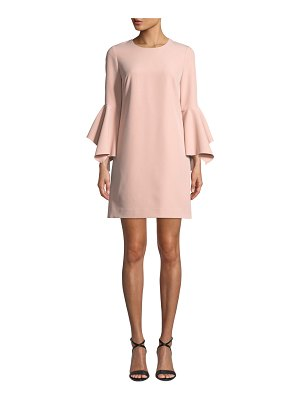 Milly Rachel Italian Cady Bell-Sleeve Dress