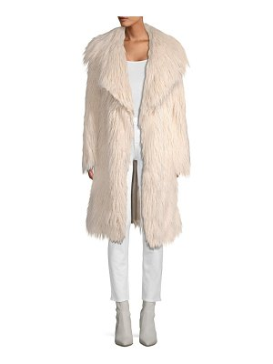 Milly riley long faux fur coat