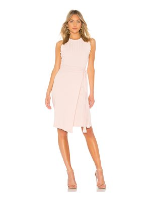 Milly Ruffle Tie Wrap Dress