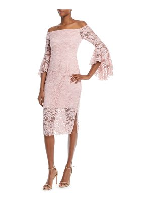 Milly Selena Stretch Lace Off-the-Shoulder Dress